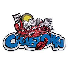 custom soft enamel Crabtown Lapel Pin